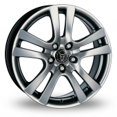 Image for Wolfrace Como_5_Stud Silver Alloy Wheels