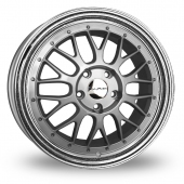 Image for Dare DR-LM_5x112_Wider_Rear Silver_Polished Alloy Wheels
