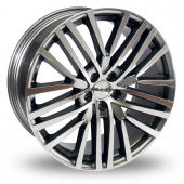 Image for Alkatec 22 Gun_Metal_Polished Alloy Wheels