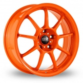 Image for OZ_Racing Alleggerita_HLT_5x120_Wider_Rear Orange Alloy Wheels