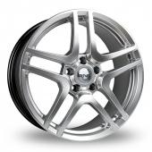 Image for Riva HMC Hyper_Silver Alloy Wheels
