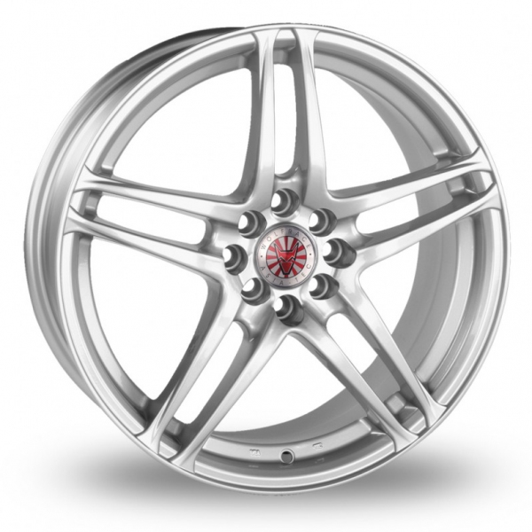 Picture of 16 Inch Wolfrace Triad Silver Alloy Wheels