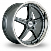 Image for BK_Racing 993_5x120_Low_Wider_Rear Gun_Metal Alloy Wheels
