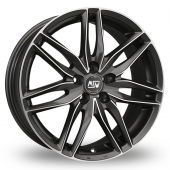 Image for MSW_(by_OZ) 24 Gun_Metal_Polished Alloy Wheels