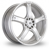 Image for BK_Racing 333 Silver Alloy Wheels
