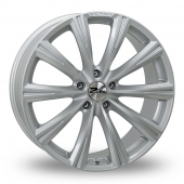 Image for Zito CRS_5x120_Low_Wider_Rear Silver Alloy Wheels