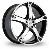 Image for BK_Racing 333 Black_Polished Alloy Wheels
