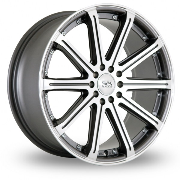 Zoom BK_Racing 509 Gun_Metal_Polished Alloys