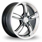 Image for BK_Racing 525 Black_Polished Alloy Wheels