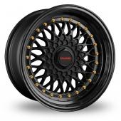Image for Dare DR-RS Matt_Black_Gold_Rivets Alloy Wheels