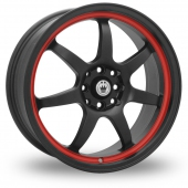Image for Konig Forward Black_Red Alloy Wheels