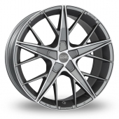 Image for OZ_Racing Quaranta_5x112_Wider_Rear Gun_Metal_Polished Alloy Wheels