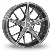 Image for OZ_Racing Quaranta_5x120_Low_Wider_Rear Gun_Metal_Polished Alloy Wheels