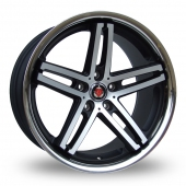 Image for Axe Ex_Stainless_5x120_Low_Wider_Rear Black_Polished Alloy Wheels