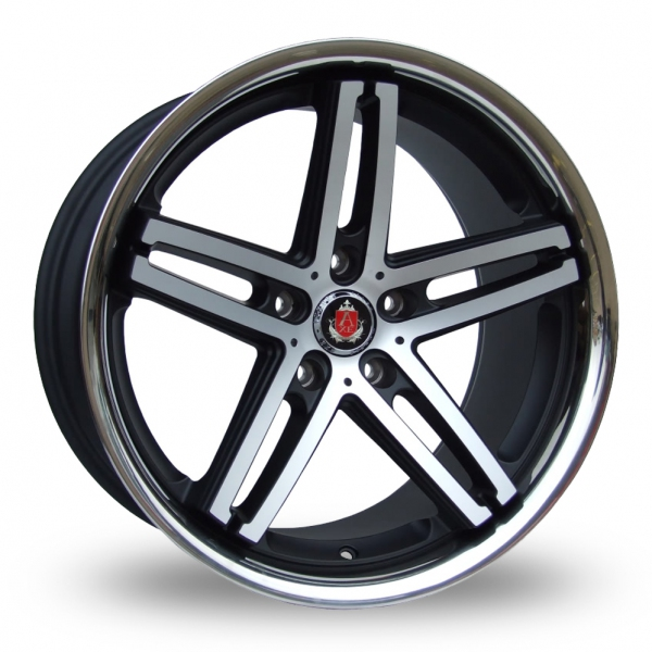 Zoom Axe Ex_Stainless_5x120_Low_Wider_Rear Black_Polished Alloys