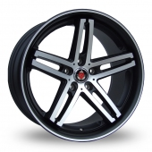 Image for Axe Ex_Pinstripe_5x120_Wider_Rear Black_Polished Alloy Wheels