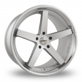 Image for Calibre CC-V_Wider_Rear Silver_Polished Alloy Wheels