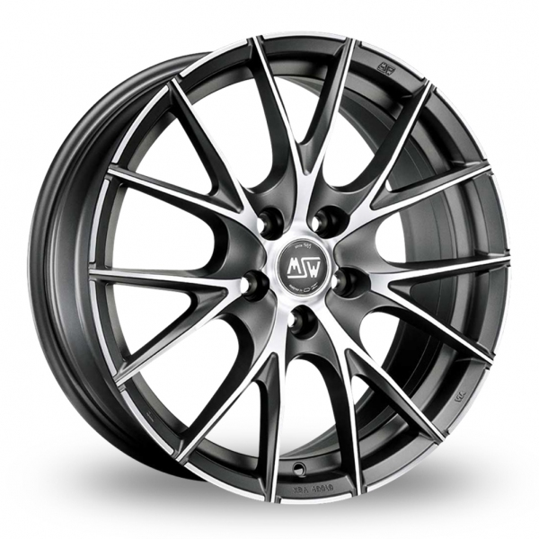 Zoom MSW_(by_OZ) 25_5x112_Wider_Rear Matt_Titanium_Polished Alloys