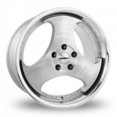 Image for Calibre CR-III_5x112_Wider_Rear Silver_Polished Alloy Wheels