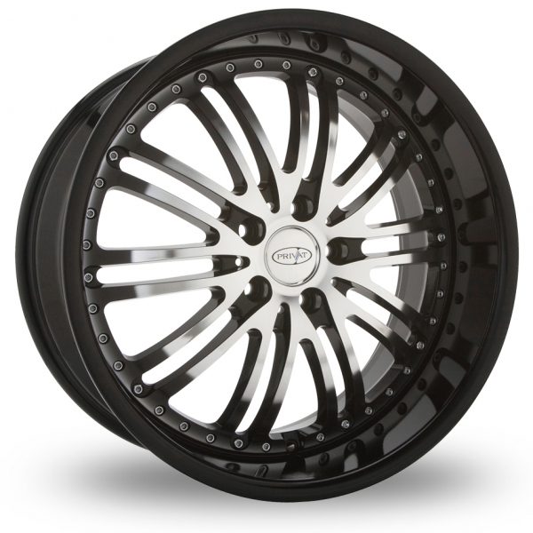 Picture of 20 Inch Privat Bremsen Black Alloy Wheels