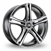 Image for OZ_Racing X5B_5x120_Wider_Rear Graphite_Polished Alloy Wheels