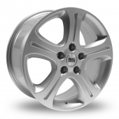 Image for BK_Racing 863 Silver Alloy Wheels