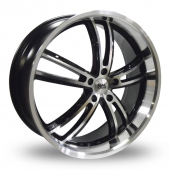 Image for BK_Racing 211 Black_Polished Alloy Wheels