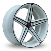 Image for Axe EX14 White_Black Alloy Wheels