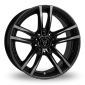 Image for Wolfrace X10 Black Alloy Wheels