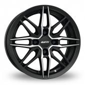 Image for Alutec Burnside_4_Stud Black_Polished Alloy Wheels