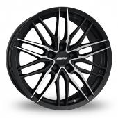 Image for Alutec Burnside_5_Stud Black_Polished Alloy Wheels