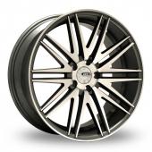 Image for ZCW V10 Gun_Metal_Polished Alloy Wheels
