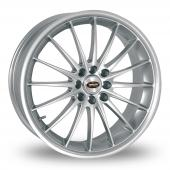 Team Dynamics Jet Silver Alloy Wheels