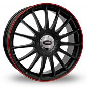 Team Dynamics Monza RS Black Red Alloy Wheels
