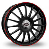 Monza RS Black Red Alloy Wheels