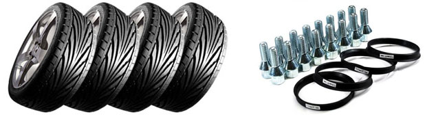 Free alloy wheels fitting kit.