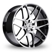 Image for BK_Racing 170 Black_Polished Alloy Wheels