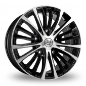 BK Racing 191 Black Polished Alloy Wheels