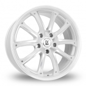 Image for BK_Racing 201 White_Polished Alloy Wheels