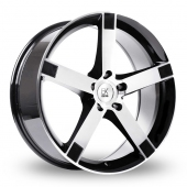 Image for BK_Racing 677 Black_Polished Alloy Wheels