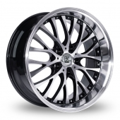 BK Racing 861 WP Black Polished Alloy Wheels