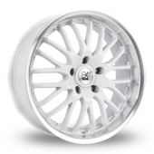 Image for BK_Racing 866 White Alloy Wheels