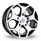 Image for BK_Racing 954 Black_Polished Alloy Wheels