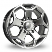 BK Racing 954 Hyper Black Alloy Wheels