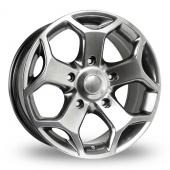 Image for BK_Racing 954 Hyper_Black Alloy Wheels