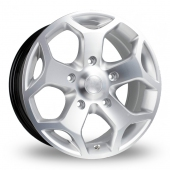 BK Racing 954 Silver Polished Alloy Wheels
