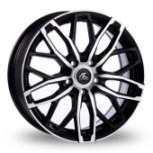 AC Wheels Karma Black Polished Alloy Wheels