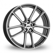 AEZ Raise Gun Metal Polished Alloy Wheels