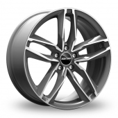 GMP Italia Atom Anthracite Polished Alloy Wheels