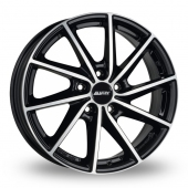 Alutec Singa Black Polished Alloy Wheels